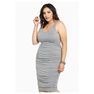 Torrid Gray Shirred Knit Tank Dress Sz.3